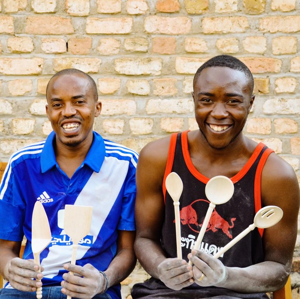 COASPINYU artisans Ibrahim Muhire and Moise Niman