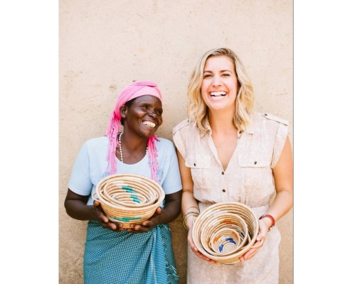 Designer Sheeva and an Rwandan Artisan