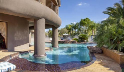 $5.4M over the Top Eccentric Scottsdale Contemporary with 50 Gallon pool is perfect fit for a ruler of Dubai!