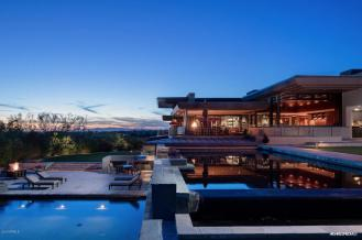 Contemporary house of steel & wood on rare hillside flat Paradise Valley grounds asking a whopping $7.5M