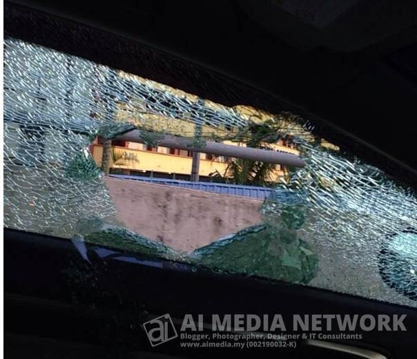 Syukurlah... walaupon macam tu, tingkap pecah, kene jugak ganti. :-(