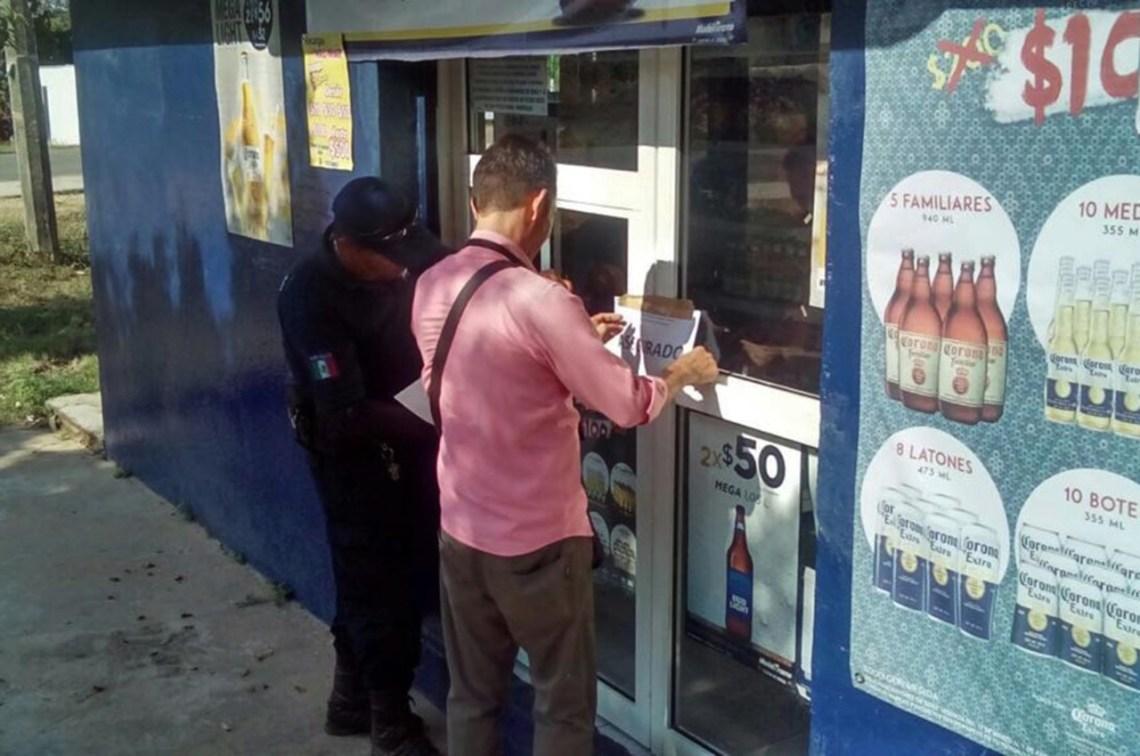 Clausuran 15 establecimientos por venta de producto etílico en la cuidad de Palenque (1)