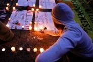 Protesta contra los feminicidios en la PGR