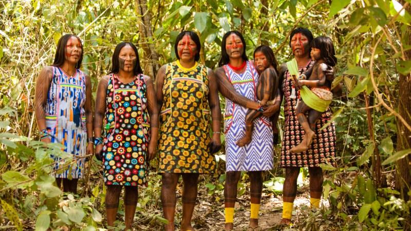 A maioria das mulheres Kayapó não falam português. Foto: Maria Ribeiro