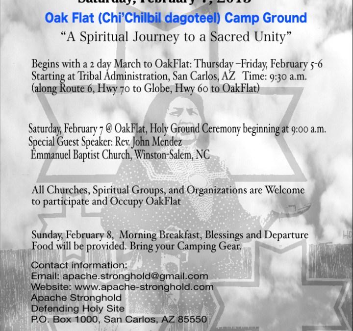 Gather at Oak Flat, Saturday, February 7