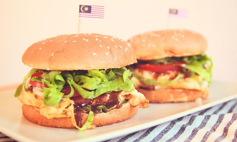 burger ramlee, burger malaysia, burger sedap, cara masak burger
