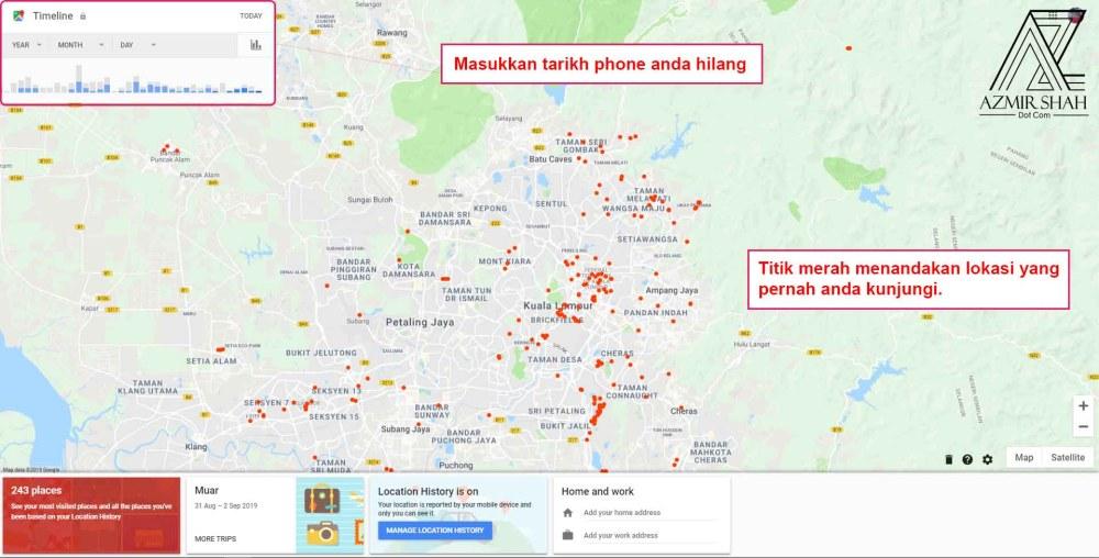 cari telefon saya, cari telefon anda,find your phone, telefon hilang, handphone hilang, jejak phone hilang di google map, google maps, phone hilang,