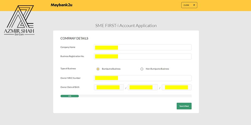 cara register maybank online, sme first-i account, sme first account application