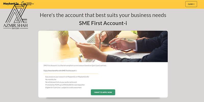 sme first account-1, maybank, buka akaun maybank, akaun maybank online, buka akaun semasa maybank