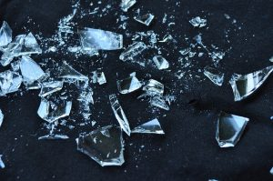 Broken glass is something to ask your mover about.
