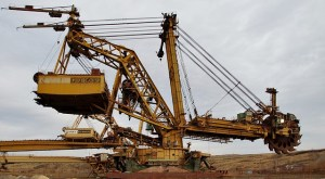 A huge mining machine.