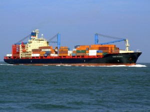 A freight sailing.