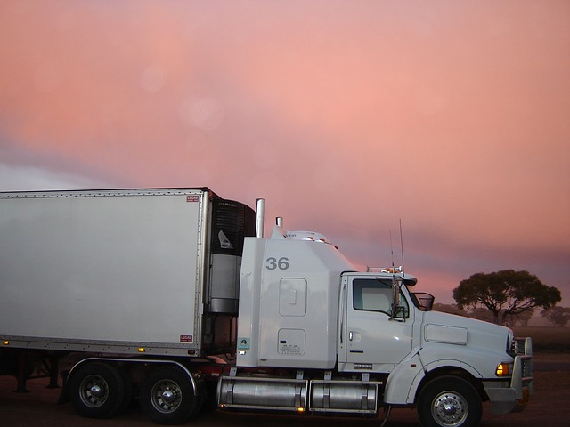 A moving truck for moving from the US to Canada.