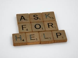 ask for help sign