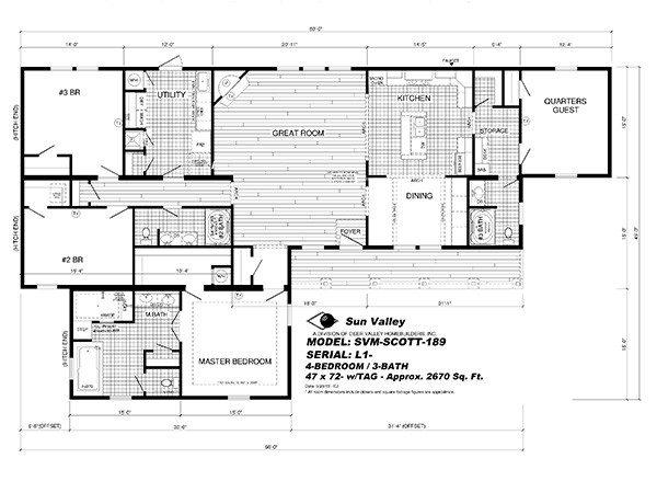 Elegant Deer Valley Mobile Home Floor Plans