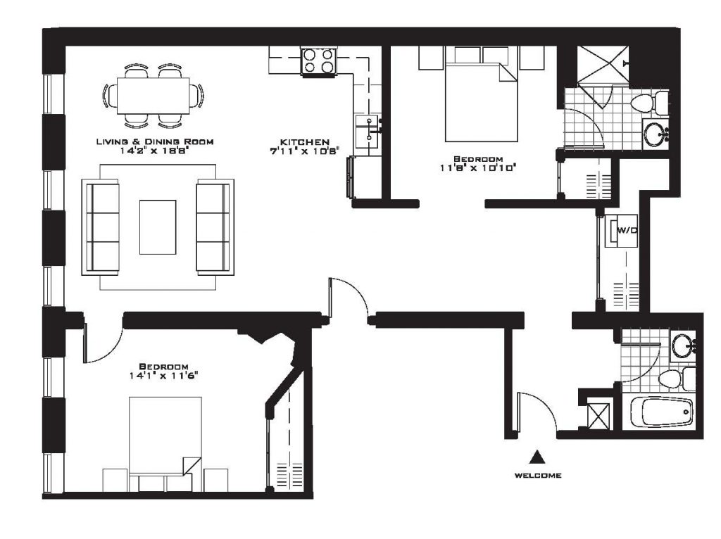 Luxury Two Bedroom House Plans Inspirational Exquisite