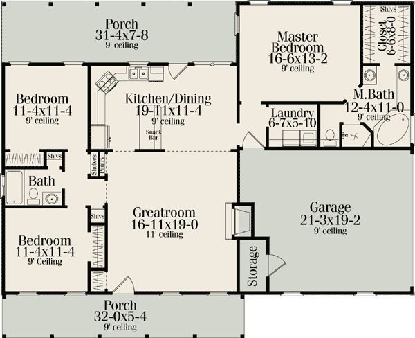 Ranch House Plans With Split Bedrooms Beautiful 274 Best