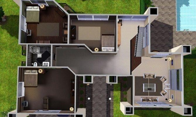 Unique Sims 3 Modern House Floor Plans