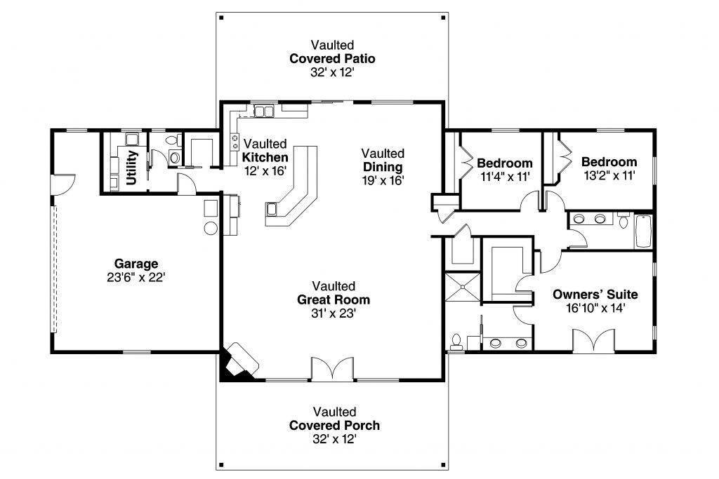 Unique Single Story Ranch House Plans