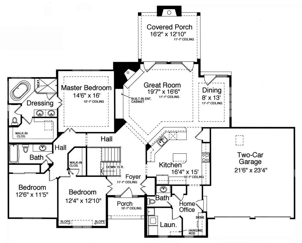 Awesome 4 Bedroom House Plans With Walkout Basement