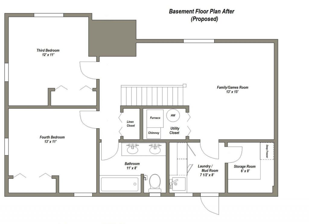 2 Bedroom House Plans With Basement Elegant Best 25