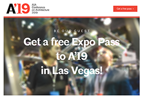 AIA '19 Free Expo pass