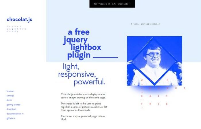 Chocolat.js – jQuery Responsive Lightbox Plugin