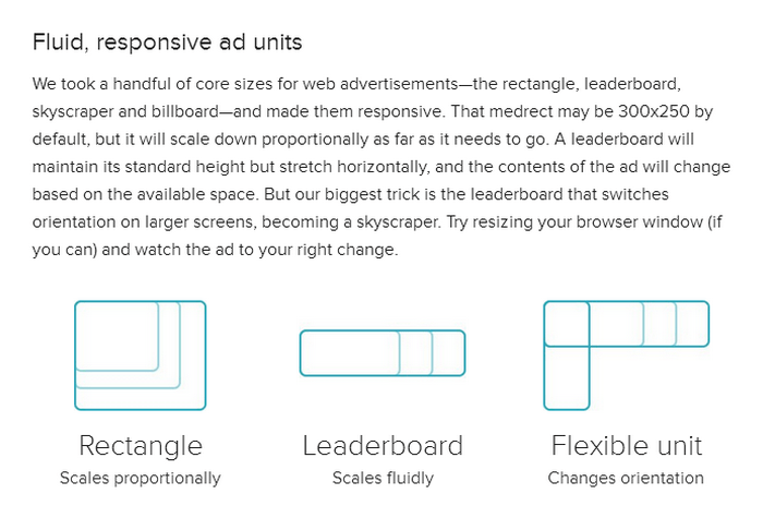Responsive Ads – Fluid & Lightweight with Web Standards