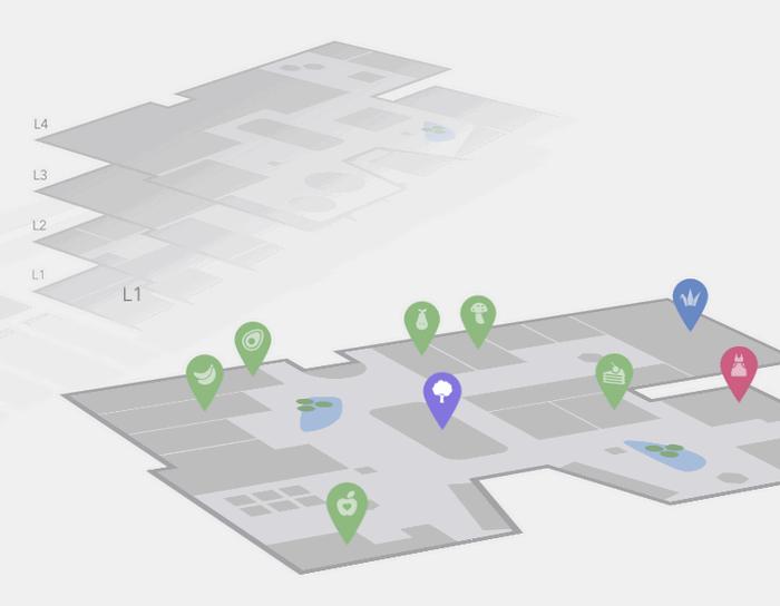 An Interactive 3D Mall Map Concept
