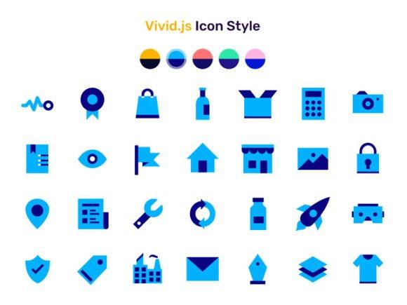 Vivid.js – A JS library serving a set of 90+ SVG icons