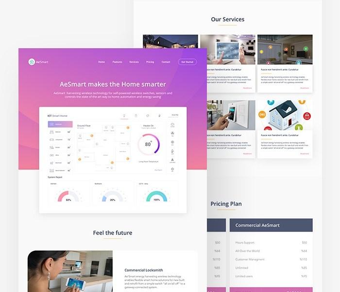 IOT Smart Home: Adobe XD UI Kit For Websites