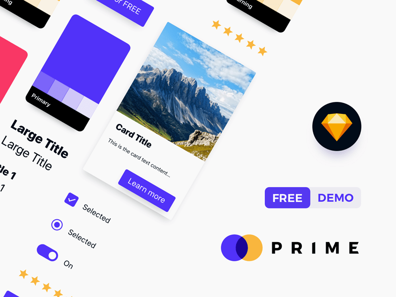Prime Design System Sample for Sketch