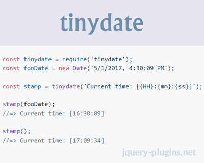 tinydate: Fast & Tiny Reusable Date Formatter