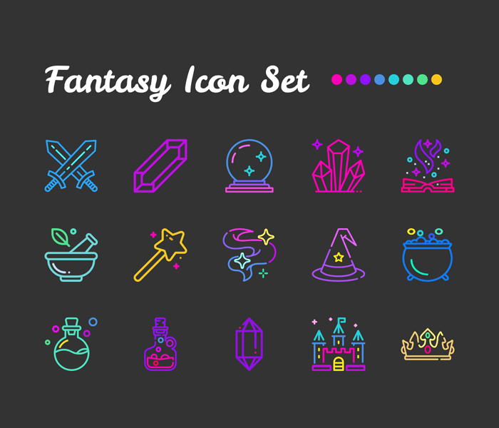 Fantasy: Sketch Icon Set