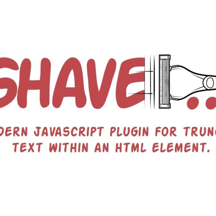 Shave: Multiline Text Truncate Plugin for JavaScript