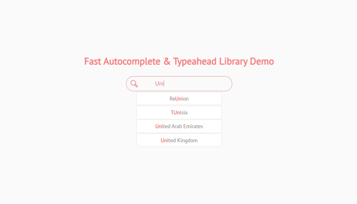Fast Autocomplete & Typeahead Library: autoComplete.js