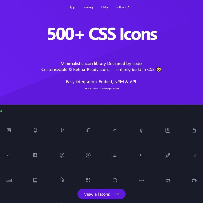 css.gg: 500+ Customizable Retina-Ready icons in CSS