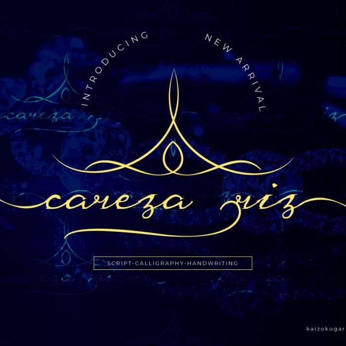 Careza Riz: Free Script Font