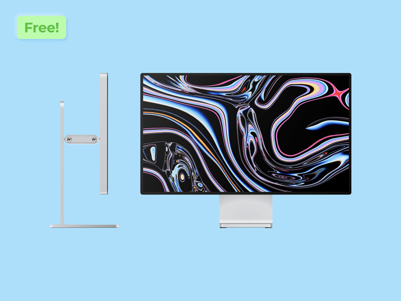 Apple Pro Display XDR Vector Mockup