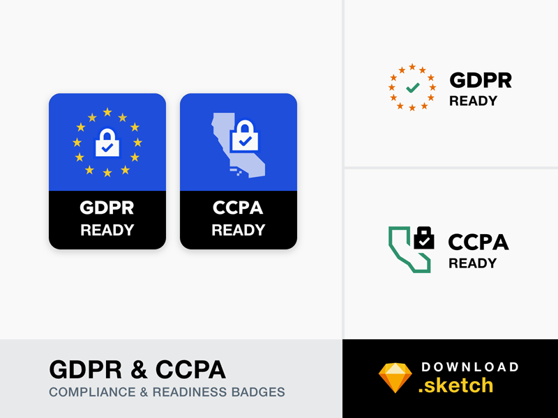 GDPR and CCPA Compliance Badges