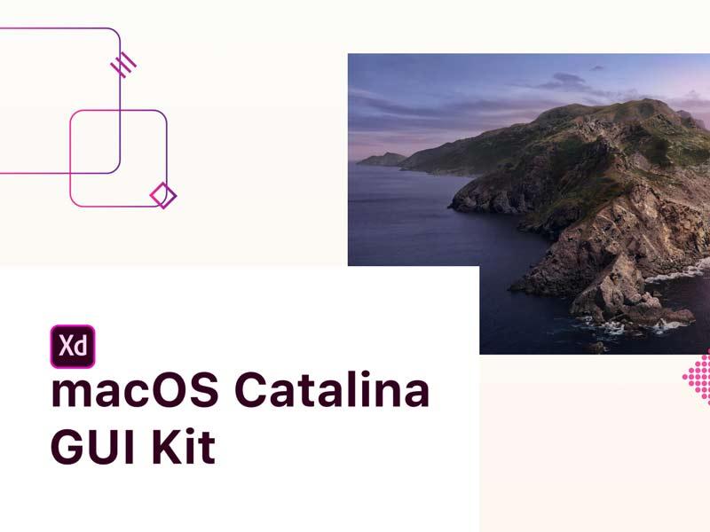 macOS Catalina Free GUI for Adobe XD