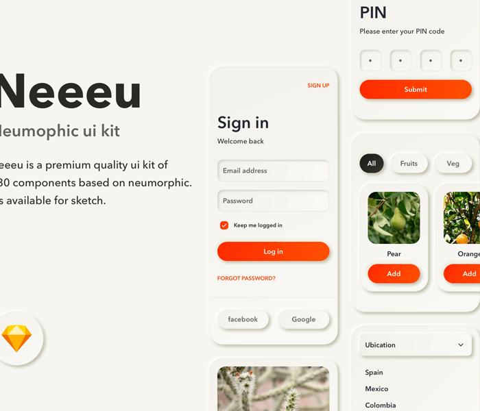 Neumorphic UI Kit – Neeeu