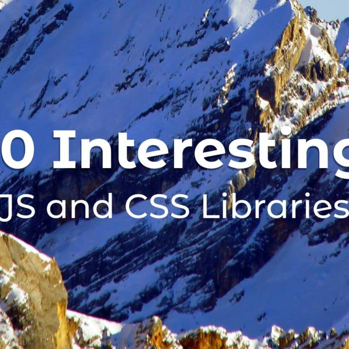 10 Interesting JS and CSS Libraries for May 2020