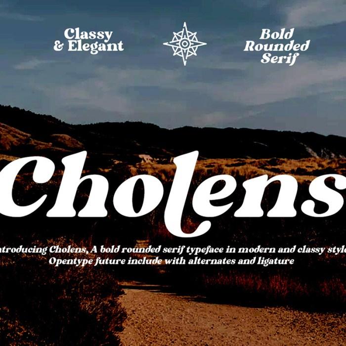 Cholens: Free Bold Serif Font