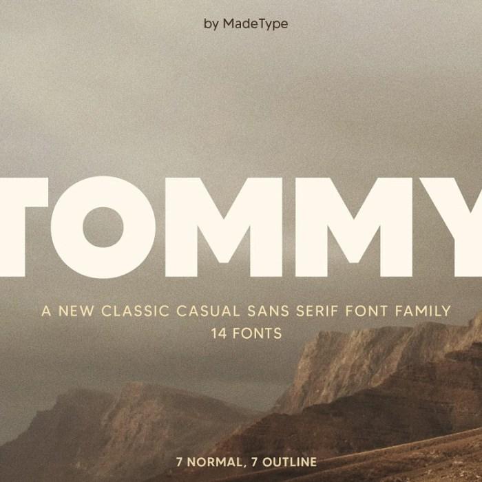 Tommy Sans Serif Font