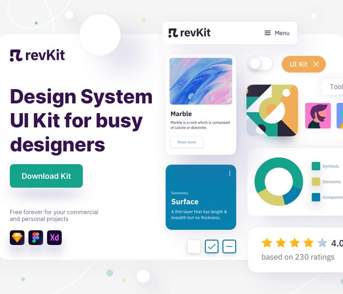 RevKit: Design System UI Kit Sketch Resource