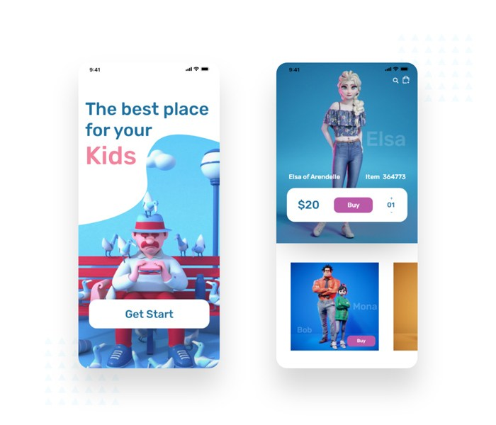 Baby Toys Store Apps Design