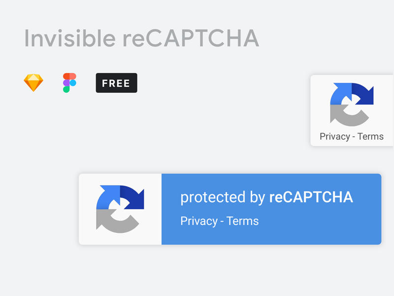 Google Invisible reCAPTCHA: Free Mockup for Sketch and Figma
