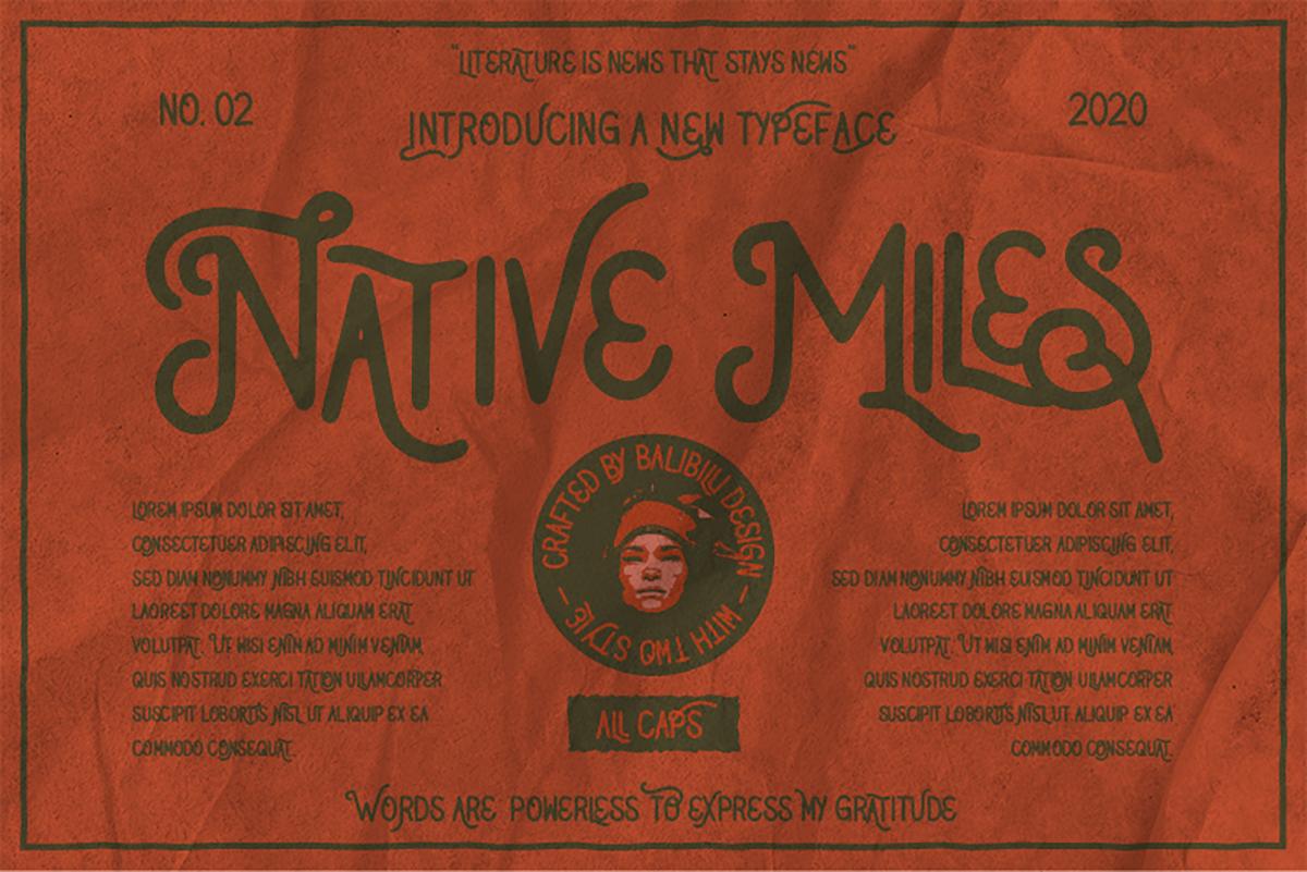 Native Miles: A Vintage Font