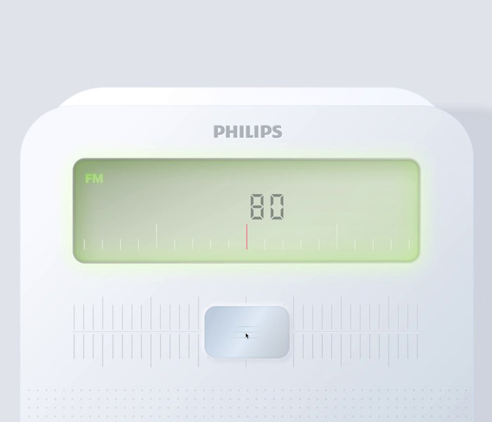 Philips Radio Illustration